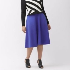Dark blue circle skirt